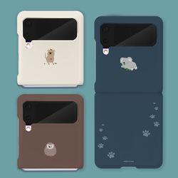 미니동물 갤럭시 Z 플립 3 슬림 하드 제트 플립3 케이스