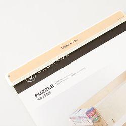 부착형 벽 페이퍼 꽂이 게시판 메모홀더 210mm 72150