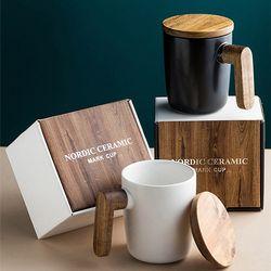 피타 홈카페 노딕우드 머그컵 2종 세트 (머그2+선물박스+쇼핑백)