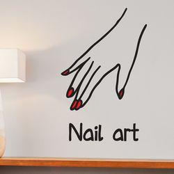 nail art 손모양 네일아트 가게 인테리어 스티커 small