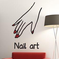 nail art 손모양 네일아트 가게 인테리어 스티커 large