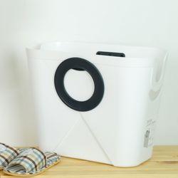 이좋은 360도 회전손잡이 세탁 빨래바구니화이트
