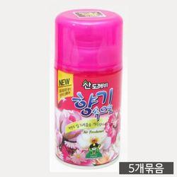 냄새제거 향기속으로 자동분사기 리필용 방향제 5개
