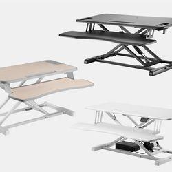 높이조절 스탠딩 모션데스크 책상 테이블 거치형 (우드)