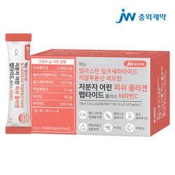 JW중외제약 엘라스틴 비오틴 저분자 피쉬 콜라겐 펩타이드 1박스