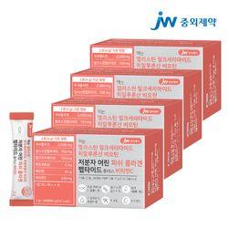 JW중외제약 엘라스틴 비오틴 저분자 피쉬 콜라겐 펩타이드 4박스