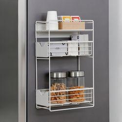 [무료배송] 슬림 냉장고 자석선반 3단