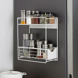 [무료배송] 슬림 냉장고 자석선반 2단