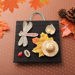 단풍꼴라주액자만들기(4개)가을단풍만들기곤충잠자리
