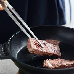 스텐 요리 핀셋 고기 주방 집게-일자형(25cm)