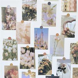 핑크 감성사진 엽서 포스터 카드 30장 세트 예쁜 인테리어 영화