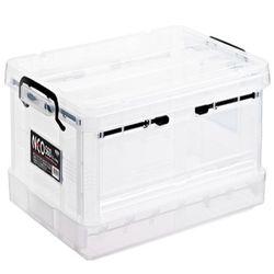 플라스틱 투명상자 리빙박스 옷보관함 네오박스 폴딩560