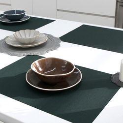 Green PVC 사각스키니 테이블매트 2size (딥그린)