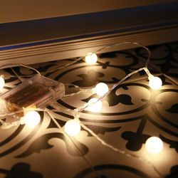 인테리어 조명 LED 앵두전구 30구 건전지형
