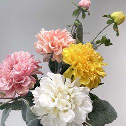 다알리아 조화 인테리어 꽃 미니부쉬