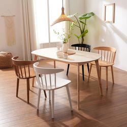 보노 1400 HPM 타원형 원목 식탁 테이블 CNM103