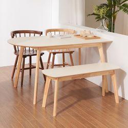 보노 1400 HPM 반타원 원목 식탁 테이블 CNM102