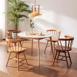 보노 1100 HPM 원형 원목 식탁 테이블 CNM113
