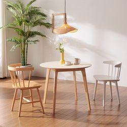 보노 900 HPM 원형 원목 식탁 테이블 CNM112