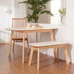 보노 1200B HPM 반타원 원목 식탁 테이블 CNM101