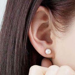 14k 귀걸이 아코야 해수 진주 이어링 7mm