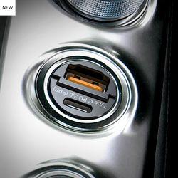 버바팀 33W 매립형 초미니 퀄컴 3.0 PD PPS 듀얼 차량용 충전기