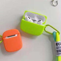 에어팟 1 2 3 프로 형광 실리콘 손잡이 스트랩 케이스