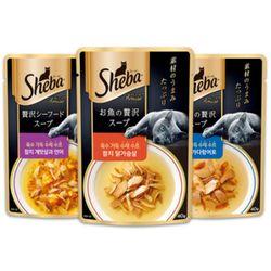 쉬바 수제수프 40g - 참치 게맛살과 연어 12개고양이수프