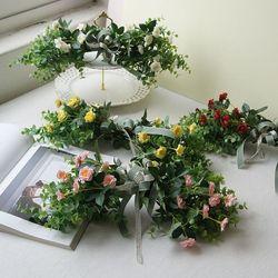 로즈 가랜드 조화 벽장식 꽃 플라워 행잉플랜트