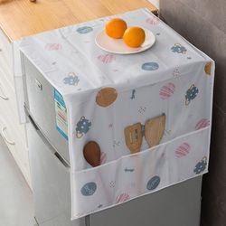 냉장고 전자레인지 커버 심플패턴 포켓커버 2장세트