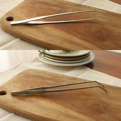 바즈 꺽인 스텐 요리 핀셋집게 27cm (무광)