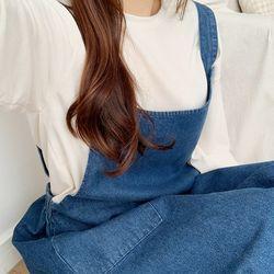 봄 여름 여친룩 20대 코디 청 데님 멜빵 원피스