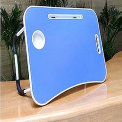 무접점 안전 좌식테이블 베드트레이 노트북테이블 Blue