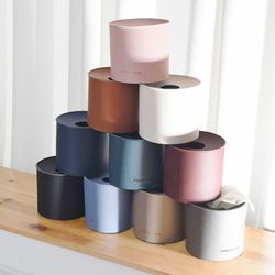 국산 모노가죽 원형 티슈케이스 커버 (5colors)