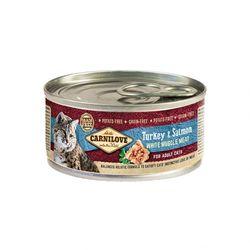 카니러브 고양이 사료 캣 캔 칠면조와 연어 100g