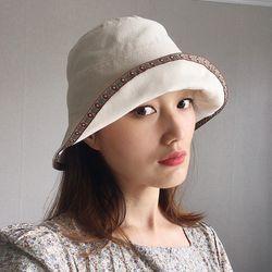 플라워 포인트 접는 벙거지 모자 버킷햇 (3color)