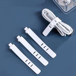 5p+5p 실리콘 이어폰 전선 정리 재사용 케이블 타이