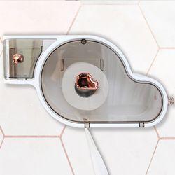 무타공 접착식 다용도 방수 수납형 욕실 휴지걸이