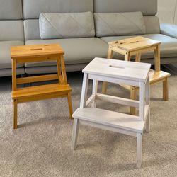 인테리어 원목 계단식 스툴 보조 화장대 의자