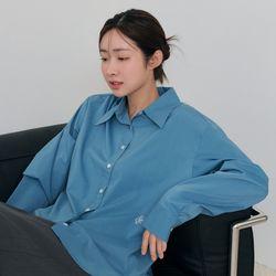[차정원 착용] [21FW] 링클 프리 베이직 셔츠INDIE BLUE