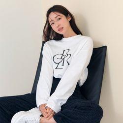 [차정원 착용] [21FW] 그래픽 베이직 긴팔 티셔츠WHITE