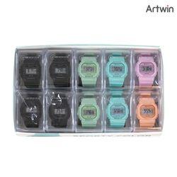 8000 스포티 컬러 손목 시계 BOX(10개입)