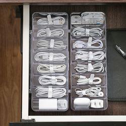 슈페리어 충전기 케이블 선 수납 정리함 박스 (라지)