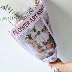 플레르 컬러 영문 신문지