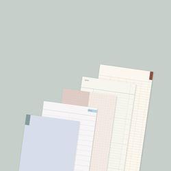 (5종 세트) 세로형 프리노트 100매 메모지