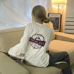 당일출고 오버핏 프린팅 맨투맨 티셔츠 to-2154c