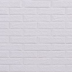 3D 압축 무늬목 단열시트지 White Classical Brick