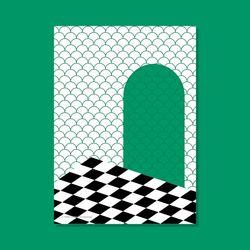포스터 SPACE CHESS MORE GREEN 50x70