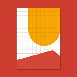 포스터 SPACE ORANGE FLOOR 50x70