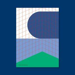 포스터  SPACE BLUISH POOL 50x70